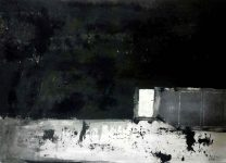 The night 50x70cm