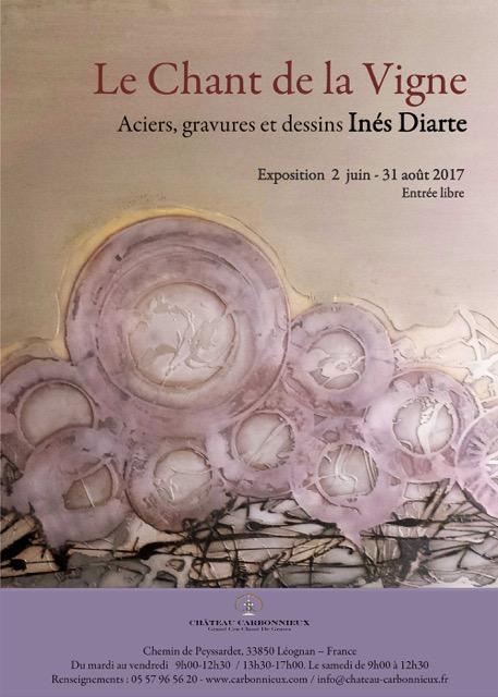 """""""Le Chant de la Vigne 3"""", Château Carbonnieux, Bordeaux. Exposition 2 juin – 31 août 2017"""