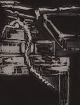 Fantômes obscurs. 38x47cm